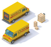 Vector isometric mail van Royalty Free Stock Photo