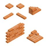 Vector isometric masonry items Stock Photography