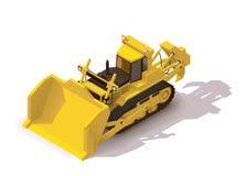 Vector isometric mining bulldozer Royalty Free Stock Photography