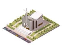 Vector isometric modern church Royalty Free Stock Photos