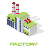 Vector isometric modern factory Stock Image