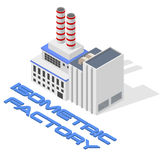 Vector isometric modern factory Stock Photography
