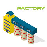 Vector isometric modern factory Royalty Free Stock Photos