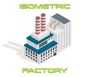Vector isometric modern factory Royalty Free Stock Images