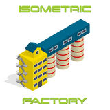 Vector isometric modern factory Stock Photos