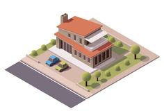 Vector isometric modern house Stock Photos