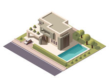 Vector isometric modern house Stock Images