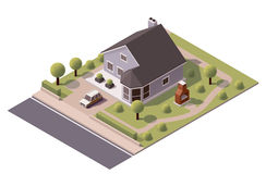 Vector isometric modern house Royalty Free Stock Images
