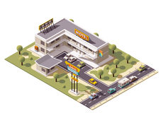 Vector isometric motel. Building icon Royalty Free Stock Photos