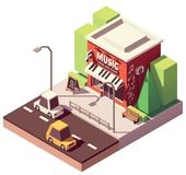 Vector isometric musical instrument store royalty free illustration