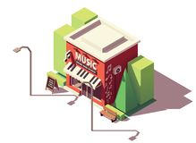 Vector isometric musical instrument store vector illustration