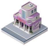 Vector isometric nightclub building Stock Photos