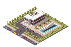 Vector isometric office building icon Stock Photos