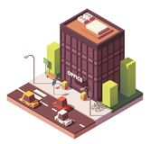 Vector isometric office building Royalty Free Stock Photos