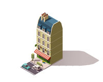 Vector isometric Paris building Royalty Free Stock Images