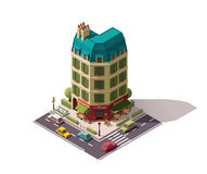 Vector isometric Paris street Stock Photos