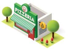 Vector isometric pizzeria Stock Photo