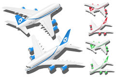 Free Vector Isometric Planes Set Of 2 Illustration In In Different Colors Royalty Free Stock Photo - 91861815