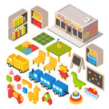 Vector Isometric Playground Royalty Free Stock Image