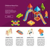 Vector isometric playground template illustration stock illustration