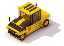 Vector isometric pneumatic road roller Stock Photo