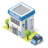 Vector isometric police department Stock Photo