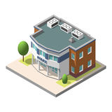 Vector isometric police department building . Isolated on white background. Stock Image