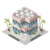 Vector isometric restaurant building stock illustration