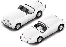 Vector isometric retro coupe sportcar. Transport icon.  Stock Image