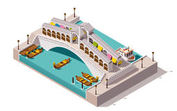 Vector isometric Rialto bridge Royalty Free Stock Images