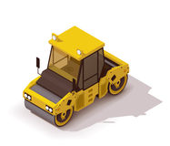 Vector isometric road roller Royalty Free Stock Photo