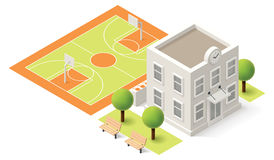 Vector isometric school Stock Photo