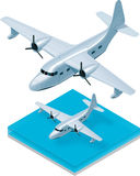 Vector isometric seaplane Royalty Free Stock Images