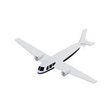 Vector isometric seaplane Stock Photos