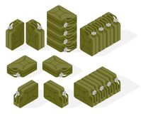 Vector isometric illustration of a jerrycan. Royalty Free Stock Image