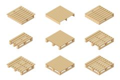 Pallets types Royalty Free Stock Image