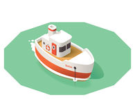 Vector isometric ship Stock Image