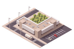 Vector isometric shopping mall Stock Photography