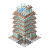 Vector isometric skyscaper building Stock Image