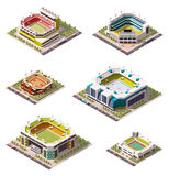 Vector isometric stadiums set Royalty Free Stock Images