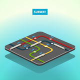 Vector isometric subway concept map Stock Photography