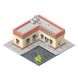 Vector isometric supermarket building Royalty Free Stock Photography