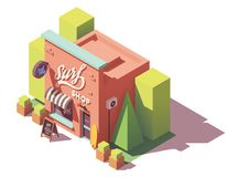 Vector isometric surf shop Stock Image