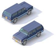 Vector isometric SUV Royalty Free Stock Photo