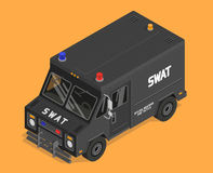 Vector isometric swat van, police, military Stock Image