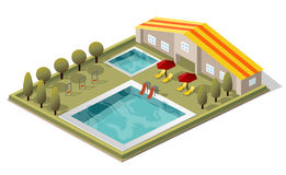 Vector Isometric Swimming Pool Royalty Free Stock Image