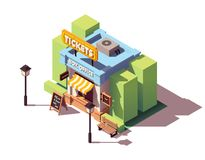 Vector isometric ticket office Royalty Free Stock Photos
