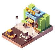 Vector isometric ticket office Stock Images