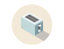 Vector isometric toaster, kitchen equipment icon. Royalty Free Stock Image