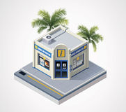 Vector isometric tourist information center Stock Images